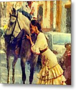 San Miguel Fair In Torremolinos Metal Print