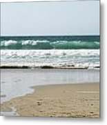 Sand City Rolling Waves Metal Print