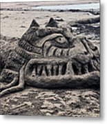 Sand Dragon Sculputure Metal Print