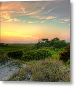 Sand Dunes And Beach Grass  Metal Print by Jenny Ellen Photography