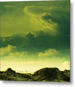 Sand Dunes And Clouds Metal Print by Marilyn Hunt