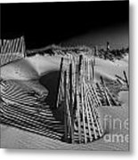 Sand Fence Metal Print by Jim Dohms