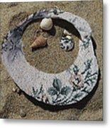 Sand On A Half Shell Metal Print