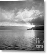 Sand Point Black And White  Metal Print