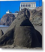 Sand Shark At Cliff House Metal Print