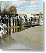 Sandbanks And Boats Metal Print