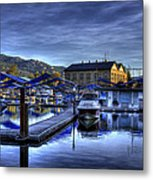 Sandpoint Marina And Power House Metal Print