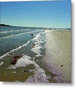 Sandsplit Beach Lowtide Metal Print