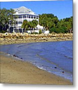 Sandsplit Beach View I Metal Print
