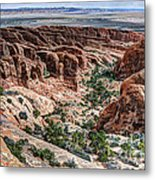 Sandstone Fins Of Arches National Park Metal Print