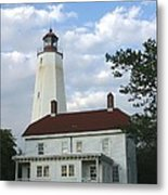 Sandy Hook Lighthouse And Building Metal Print