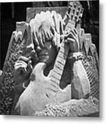 Sandy Rock Musician Metal Print