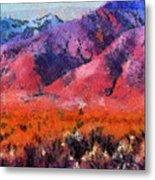 Sangre De Cristos -- Cezanne Metal Print