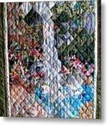 Santa Amelia Waterfall Quilt Metal Print by Sarah Hornsby