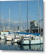 Santa Barbara Marina Metal Print by Linda Pope