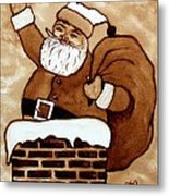 Santa Claus Gifts Original Coffee Painting Metal Print