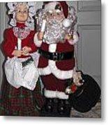 Santa Couple Metal Print
