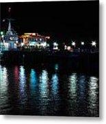 Santa Monica Pier After Dark Metal Print