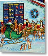 Santa's Pit Stop On  December 24th Metal Print