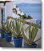 Santorini Entrance Metal Print