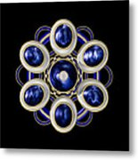Sapphire And Gold Brooch Metal Print
