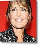 Sarah Palin At Arrivals For Time 100 Metal Print by Everett
