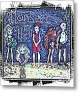 Sarah's Monster High Collection Sketch Metal Print