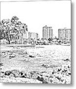 Sarasota Sketch Metal Print