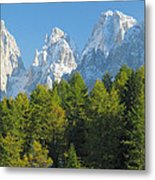 Sasso Lungo Group In The Dolomites Of Italy Metal Print