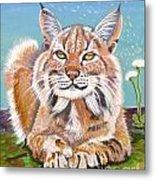 Sassy Lynx Metal Print