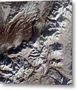 Satellite Image Of Russias Kizimen Metal Print