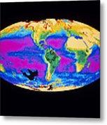 Satellite Image Of The Earth's Biosphere Metal Print by Dr Gene Feldman, Nasa Gsfc
