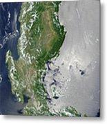 Satellite Image Of The Northern Metal Print