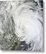 Satellite Image Of Tropical Storm Muifa Metal Print