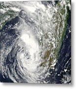 Satellite View Of Cyclone Giovanna Metal Print
