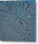 Satellite View Of Newark, New Jersey Metal Print