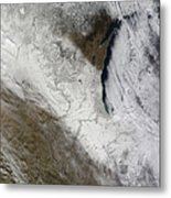 Satellite View Of Snow And Cold Metal Print