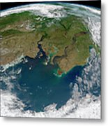 Satellite View Of The Ob And Yenisei Metal Print