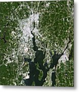 Satellite View Of The Pawtucket Metal Print