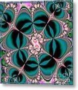 Satin Flowers And Butterflies Fractal 122 Metal Print
