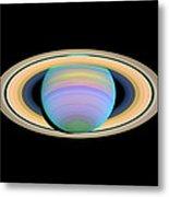 Saturn, Ultraviolet Hst Image Metal Print