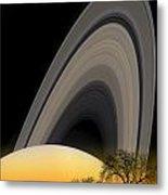 Saturn View 2 Metal Print