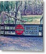 Saucon Creek Bridge - Closed Metal Print