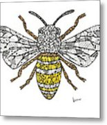 Save The Bees Metal Print