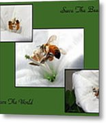Save The Bees Save The World Metal Print
