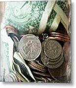 Savings In Jar Metal Print