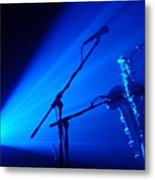 Sax In Blue Metal Print