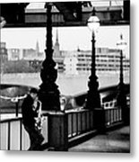 Sax Player  London  Busker  Metal Print