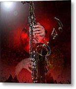 Sax World Metal Print