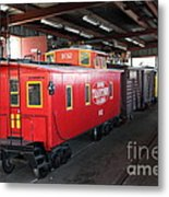 Scale Caboose - Traintown Sonoma California - 5d19240 Metal Print by Wingsdomain Art and Photography